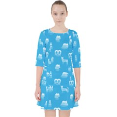 Oktoberfest Bavarian October Beer Festival Motifs In Bavarian Blue Pocket Dress by PodArtist
