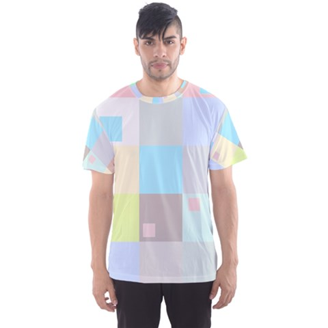 Pastel Diamonds Background Men s Sports Mesh Tee by Sapixe
