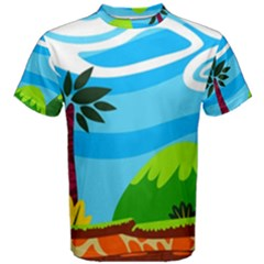 Landscape Background Nature Sky Men s Cotton Tee