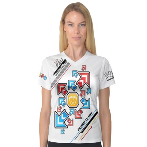 Piu White Arrows Women s Sport Mesh Tee by concon