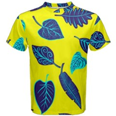 Leaves Pattern Picture Detail Men s Cotton Tee