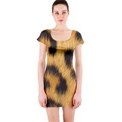 Animal Print 3 Short Sleeve Bodycon Dress by NSGLOBALDESIGNS2