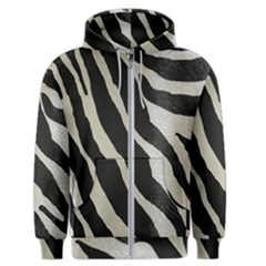 Zebra Print Men s Zipper Hoodie by NSGLOBALDESIGNS2