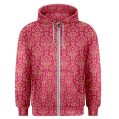 Damask Background Gold Men s Zipper Hoodie by Jojostore