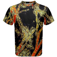 Artistic Effect Fractal Forest Background Men s Cotton Tee