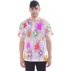 Star Dab Farbkleckse Leaf Flower Men s Sports Mesh Tee