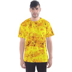 Yellow Abstract Background Men s Sports Mesh Tee