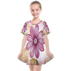 Print Fabric Pattern Texture Kids  Smock Dress by Sapixe