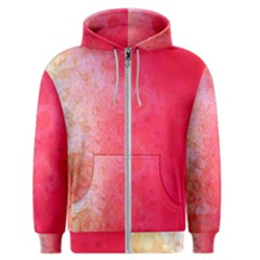 Abstract Red And Gold Ink Blot Gradient Men s Zipper Hoodie