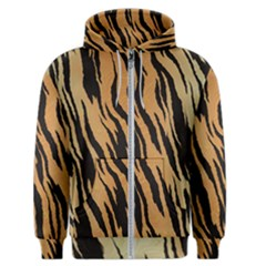 Tiger Animal Print A Completely Seamless Tile Able Background Design Pattern Men s Zipper Hoodie
