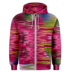 Abstract Pink Colorful Water Background Men s Zipper Hoodie by Jojostore