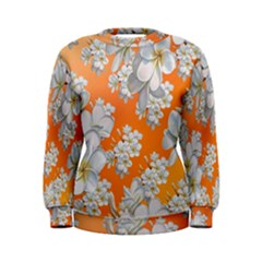 Flowers Background Backdrop Floral Women s Sweatshirt
