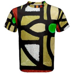 A Detail Of A Stained Glass Window Men s Cotton Tee