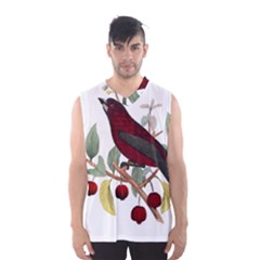 Bird On Branch Illustration Men s Basketball Tank Top