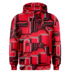Background With Red Texture Blocks Men s Pullover Hoodie by Jojostore