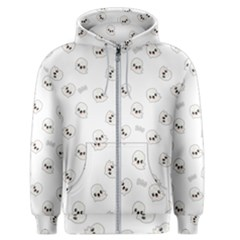 Cute Kawaii Ghost Pattern Men s Zipper Hoodie by Valentinaart
