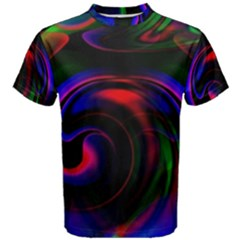 Swirl Background Design Colorful Men s Cotton Tee