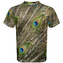 Peacock Feathers Color Plumage Green Men s Cotton Tee