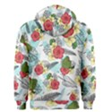 Apu Apustaja and Groyper Pepe The Frog frens Hawaiian Shirt with red Hibiscus on White background from Kekistan Men s Zipper Hoodie View2