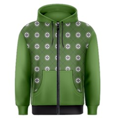 Logo Kekistan Pattern Elegant With Lines On Green Background Men s Zipper Hoodie by snek
