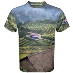 Rock Scenery The H Mong People Home Men s Cotton Tee