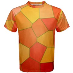 Background Pattern Orange Mosaic Men s Cotton Tee