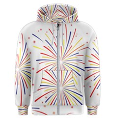 Graphic Fireworks Decorative Men s Zipper Hoodie by AnjaniArt