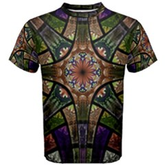 Fractal Detail Elements Pattern Men s Cotton Tee