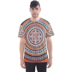 Mandala Art Painting Acrylic Men s Sports Mesh Tee