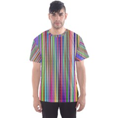Striped Stripes Abstract Geometric Men s Sports Mesh Tee