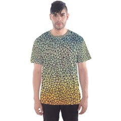 Background Cubism Mosaic Vintage Men s Sports Mesh Tee