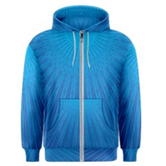 Blue Rays Background Image Men s Zipper Hoodie