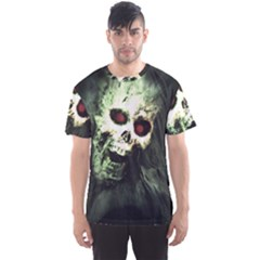 Screaming Skull Human Halloween Men s Sports Mesh Tee