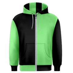 Black Green Men s Zipper Hoodie