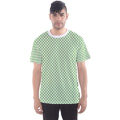 Polka Dot Green Men s Sports Mesh Tee