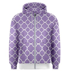 Vintage Tile Purple  Men s Zipper Hoodie by TimelessFashion