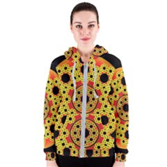 Fractal Art Design Pattern Women s Zipper Hoodie