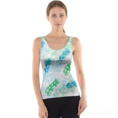 Pattern Feather Fir Colorful Color Tank Top