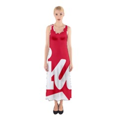 Logo Of United Left Political Coalition Of Spain Sleeveless Maxi Dress by abbeyz71