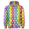 Rainbow Colors Chevron Design Men s Zipper Hoodie View1