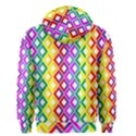 Rainbow Colors Chevron Design Men s Zipper Hoodie View2