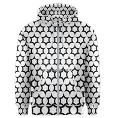 Pattern Star Repeating Black White Men s Zipper Hoodie by Pakrebo
