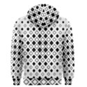 Square Diagonal Pattern Monochrome Men s Zipper Hoodie View2