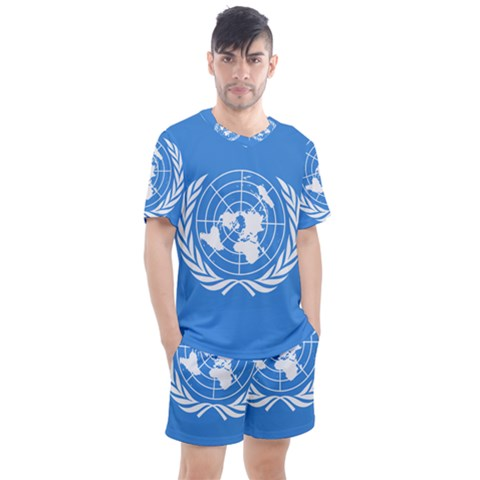 Flag Of United Nations Men s Mesh Tee And Shorts Set by abbeyz71