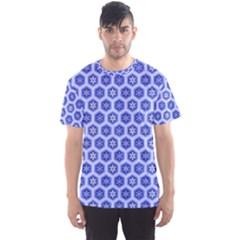 A Hexagonal Pattern Men s Sports Mesh Tee