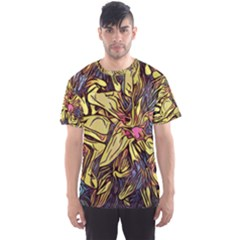 Lilies Abstract Flowers Nature Men s Sports Mesh Tee