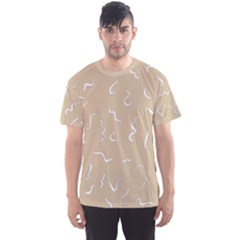 Almond Buff Scribbles Men s Sports Mesh Tee