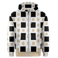 Squares On A Mission Men s Zipper Hoodie by TimelessFashion