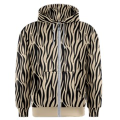 Zebra Style  Men s Zipper Hoodie by TimelessFashion
