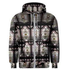 Stained Glass Window Repeat Men s Zipper Hoodie